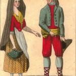 gravures : couple de Catalans