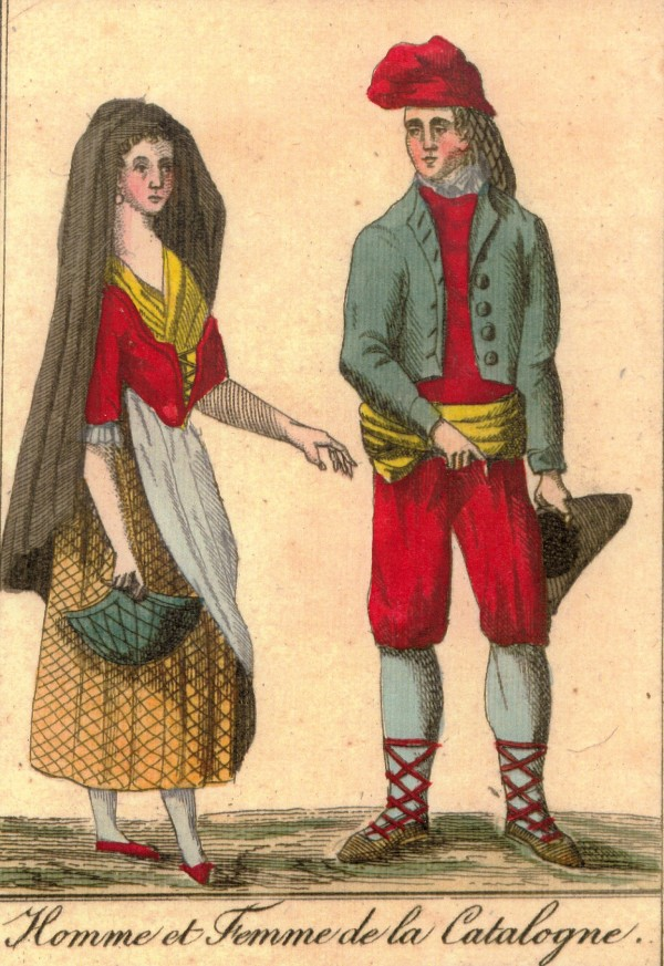 gravures : couple de Catalans
