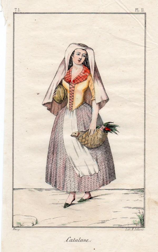 Catalane, lithographie de Jollivet.