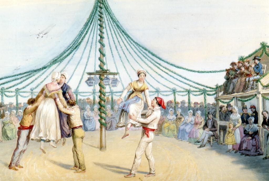 Bal traditionnel roussillonnais sous Napoléon III, Guiraud, aquarelle, Musée Rigaud, Perpignan.