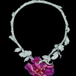 COLLIER « BAL DE L'OPÉRA »OR BLANC, OR ROSE, DIAMANTS, SPINELLES ROUGES, RUBELLITES, RUBIS ET SPINELLES ROSES, Dior Joaillerie.