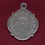 Médaile de la confrérie de la cour de Marie (église st Jacques de Perpignan)