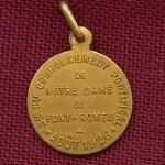 médaille du couronnement de la Vierge de Font Romeu, revers.