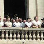 Présentation de la 21e Reine et de ses demoiselles d'honneur le 1er mai 2011.