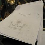 dessin préparatoire à l'atelier de vallendar