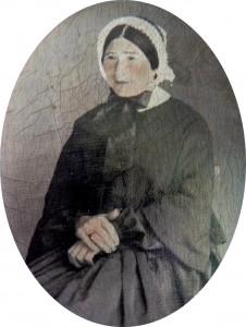 Pierre Germain, photographe à Perpignan, portrait de femme, prodédé sur toile, vers 1860.