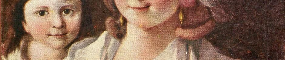 Gamelin Jacques, portrait de femme et enfants.