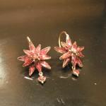Boucles d'oreilles étoiles en Grenat de Perpignan