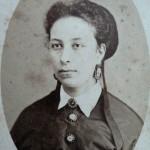 Portrait de femme par Joaquin Masaguer, Gerona, vers 1880.