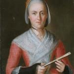 Portrait de femme en habit traditionnel, France, milieu 18e s., Bowes museum.
