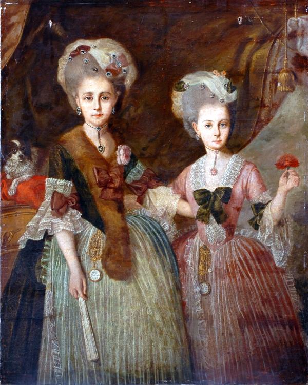 Portrait de deux jeunes femmes, France , seconde moitié du XVIIIe s.© 2006 The Bowes Museum