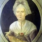 Portrait de femme avec croix jeannette, France, vers 1780, Bowes Museum.