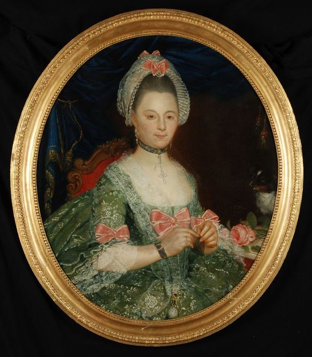 Nicolas Joseph Delin (Doornik 1741, Anvers 1803),  portrait  de femme , 1776.