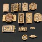 Fermoirs émaillés, collection particulière, XIXe s.