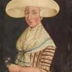 1789 Costume de femme de la région de la Frise.