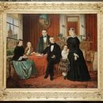 Portrait de groupe vers 1850.