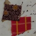 Échantillons textiles d'une boutique de Céret vers 1840, AD66.