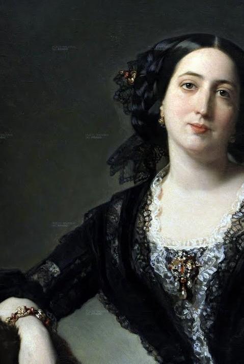 Federico de Madrazo, détail des bijoux du portrait.