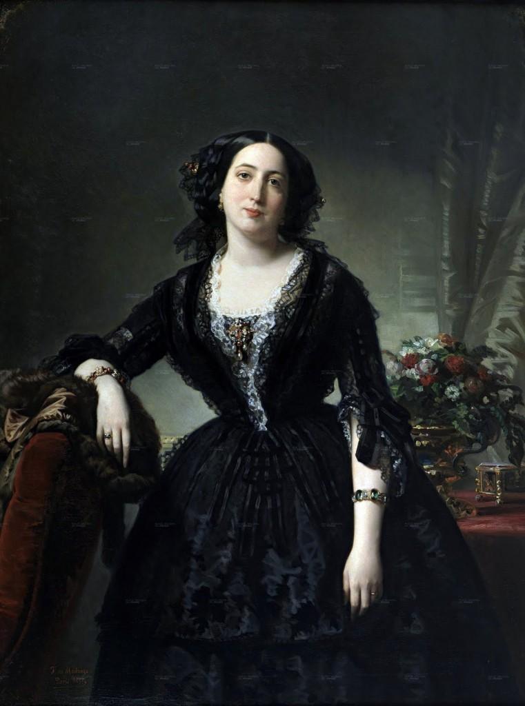 Federico de Madrazo, 1855, portrait de Maria Dolores de Aldam.