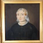 Portrait de femme en coiffe traditionnelle, Pays-Bas, vers 1840.