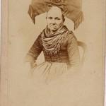 Vers 1850, coiffe ruban d'Alsace.