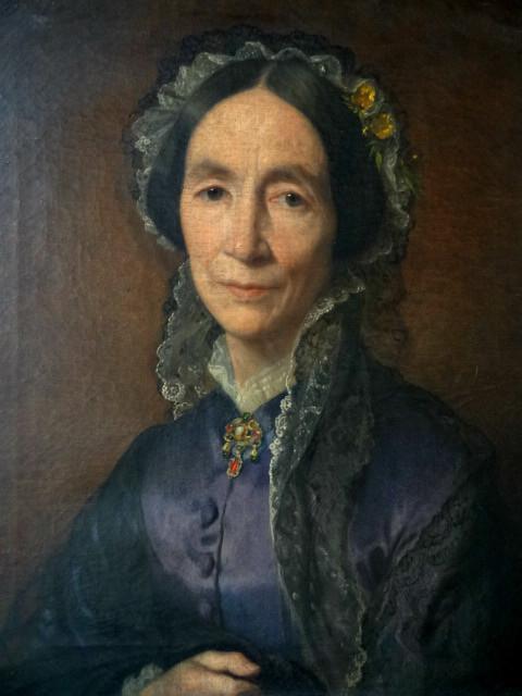Portrait de femme au pendentif néo-renaissance, 1879, collection particulière.