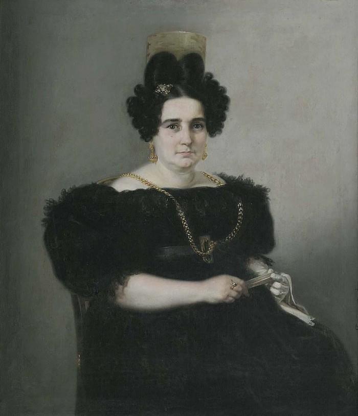 Portrait de Josefa Corte Gargollo par J.Manuel Fernandez, vers 1830.