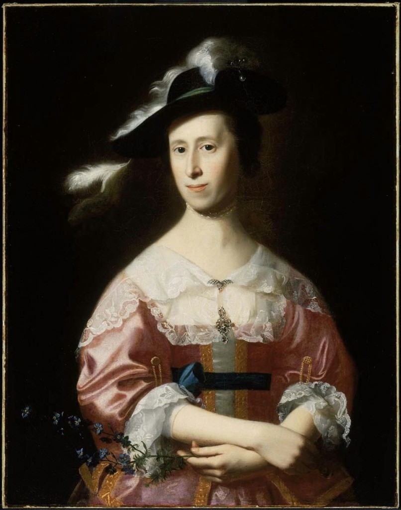 Mrs. Samuel Quincy  par John singleton Copley, Musee de Boston, USA.