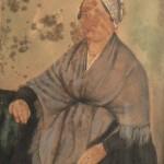 Portrait de Catalane, Roussillon, vers 1850.
