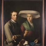 Portret van Hotse Johannes v.d. Veen en Klaske, Fries museum.