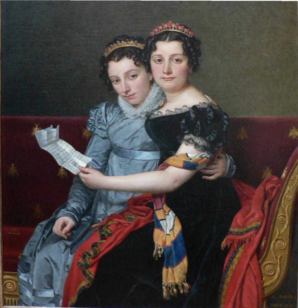 Zenaide et Charlotte Bonaparte par Jacques Louis David.