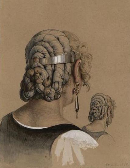 Bodinier, Etude de coiffure, base RMN.
