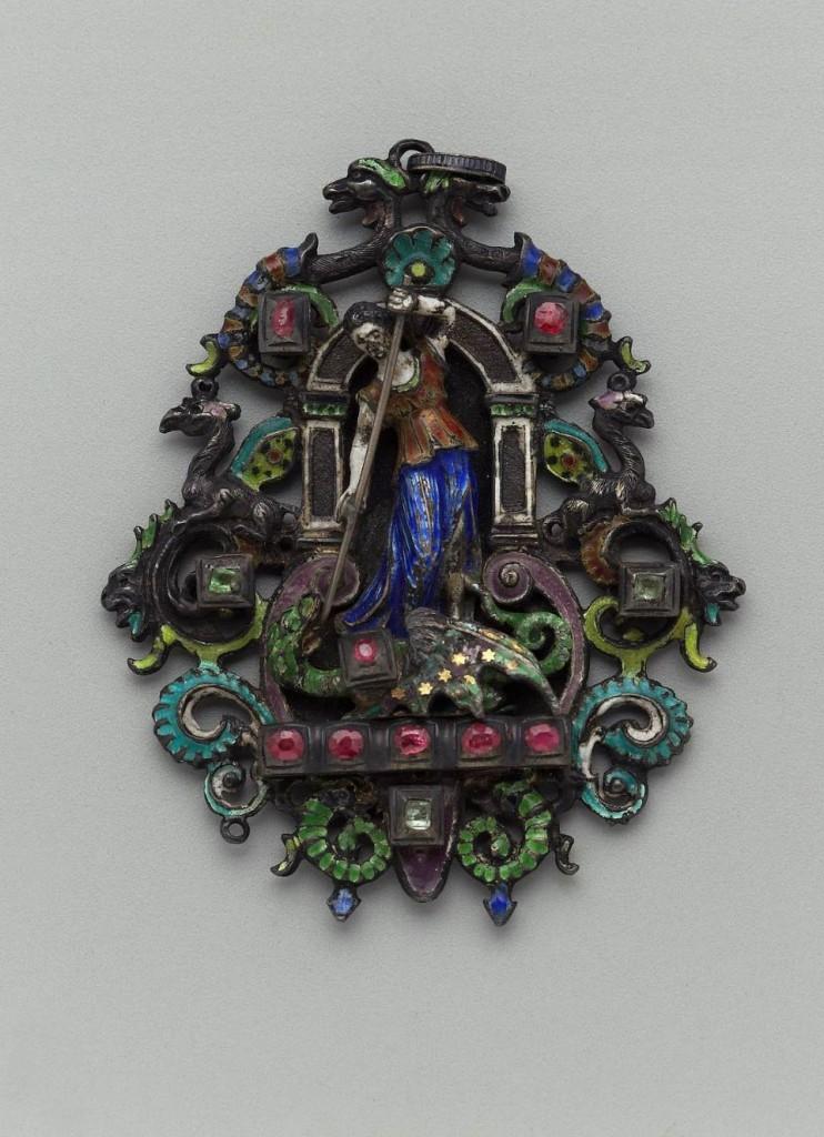 Pendentif néo-renaissance, milieu XIXe s., Musée de Boston, USA.