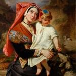 Devéria, Eugène (1805-1865), femme d'Ossau et son enfant.