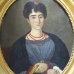 Portrait de femme vers 1820 avec parures en corail, ebay.fr.