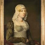 Fries museum, portrait de femme avec bijoux de tête, 1823.