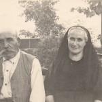 Vers 1920, couple de Roussillonnais âgés.