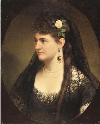 Anonyme, portrait de femme, vers 1850, collection particulière.