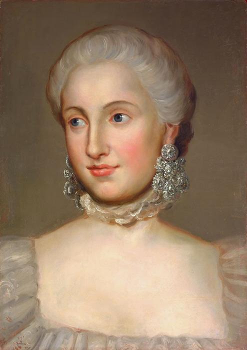 Portrait d'Isabelle de Bourbon-Parme par Mengs (Aussig, Bohême, 1728 – Rome 1779).