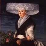 Portrait de femme en costume de la Frise, avant 1799, Fries museum.