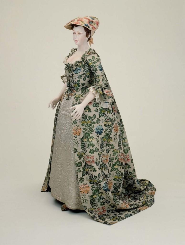 Robe de mariée en 3 partie English (Spitalfields), 1742, musée de Boston.