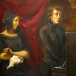 Georges Sand et Chopin par Delacroix