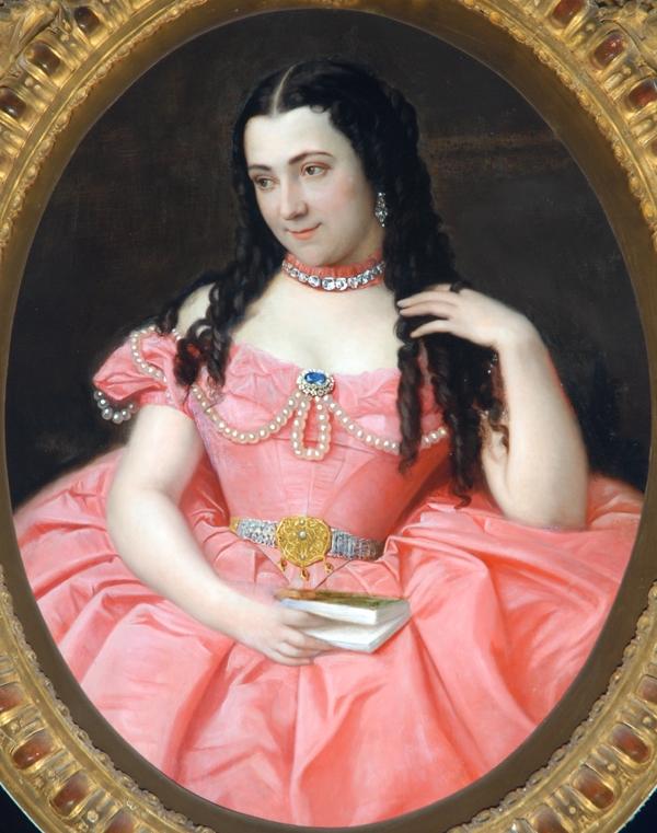 Desanges, portrait de Josephine Bowes, 1858, Bowes museum.