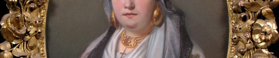 Portrait de Toulousaine, sous titré: souvenir de carnaval, Gabriel Durand, 1856, Musée du Vieux-Toulouse 80-1405.