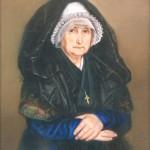 Portrait de Mme Faure (gr-mère de la femme de l'artiste) par G. Durand 1842, Musée du Vieux-Toulouse 80-1412.