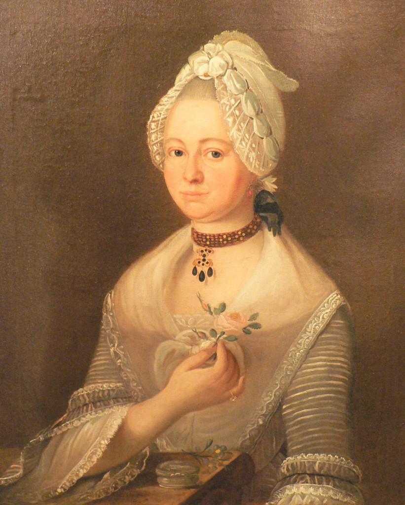 Portrait de femme (portrait de mariage ?), 1774.