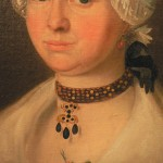 Détail du collier, portrait de femme, 1774.