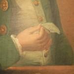 Portrait d'homme, détail de la main.
