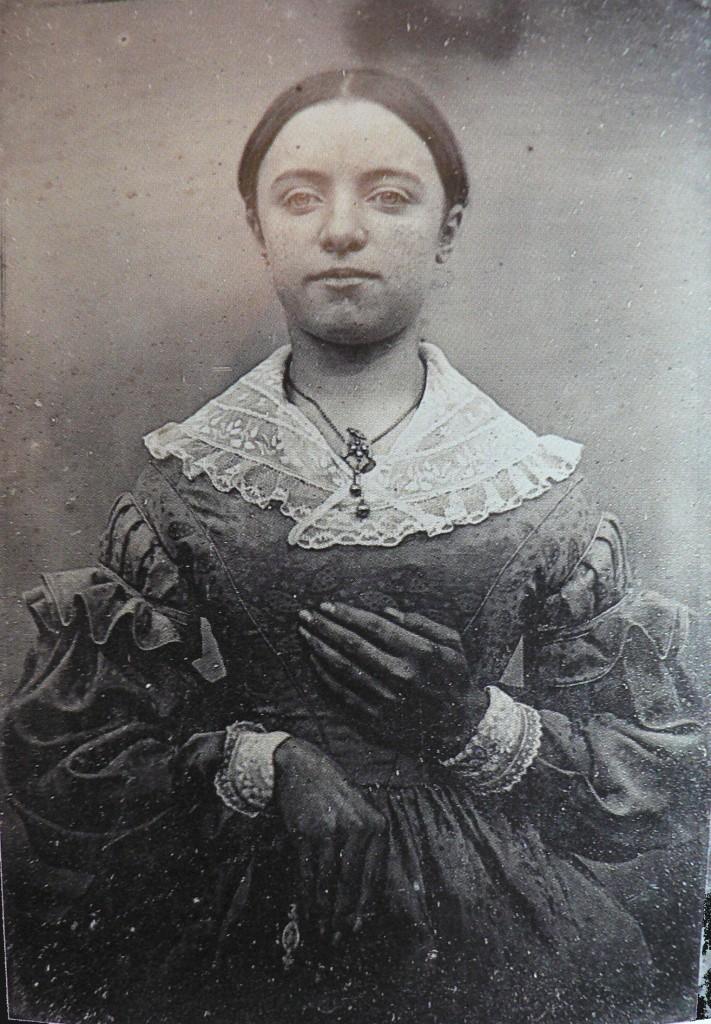 Portrait de Zélie Le Boeuf, daguerréotype, E.Le Boeuf, vers 1840, Coll. part.