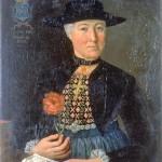 Portrait à mi-corps d'Anna Maria Holzmann, Musee national Suisse.